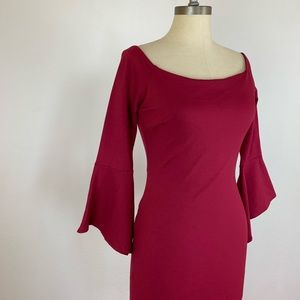 Lulu's Dresses - Lulu's All She Wants Burgundy Off Shoulder Dress